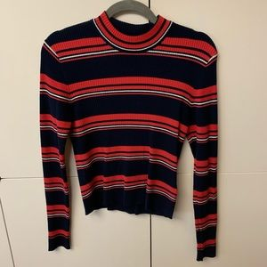 H&M Tops - H&M long sleeve striped mock turtle neck
